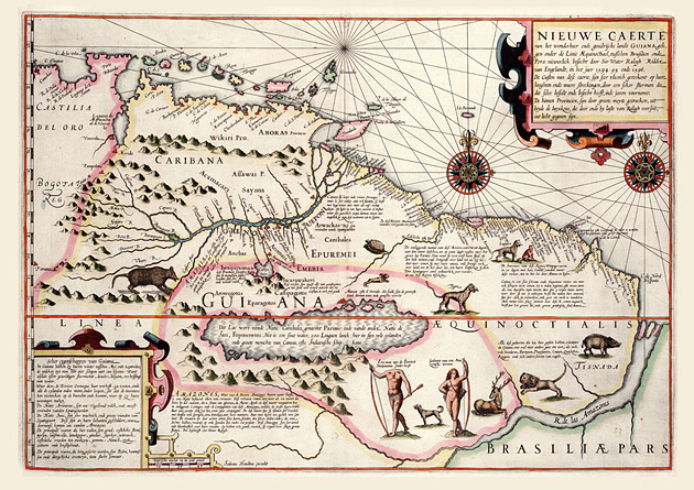 Guyana 1599 Hondius