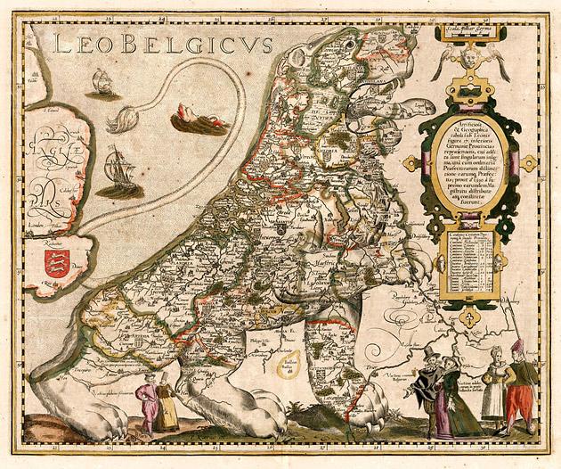 Leo Belgicus 1617 Kaerius