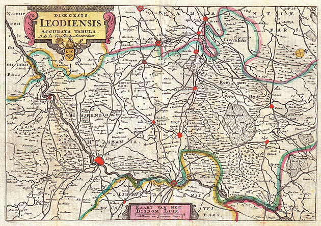 Bisdom Luik Leodiensis 1747 De la Feuille