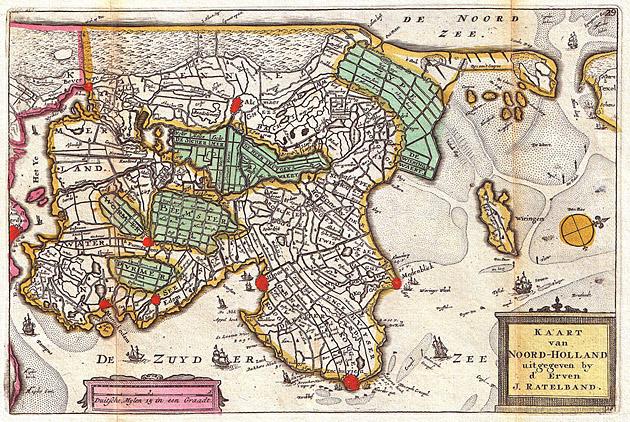 Noord Holland 1747 Ratelband / De la Feuille
