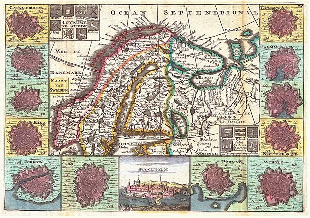 Scandinavië 1747 De la Feuille