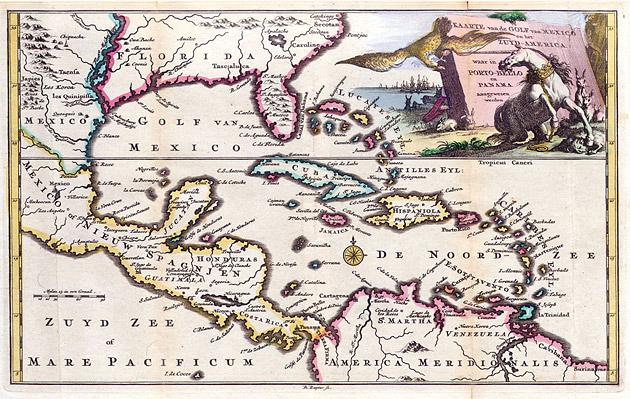 Golf van Mexico en Midden Amerika 1747 Ruyter