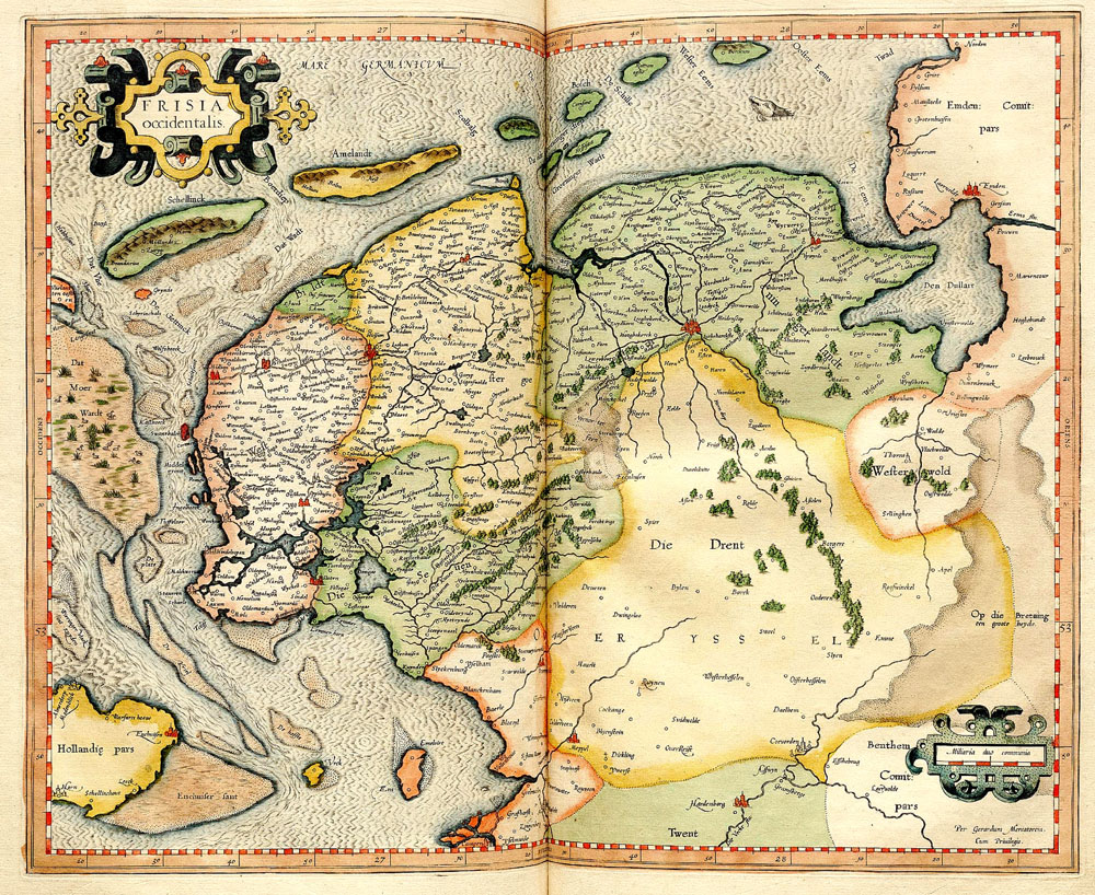 Frisia Occidentalis 1596 Mercator