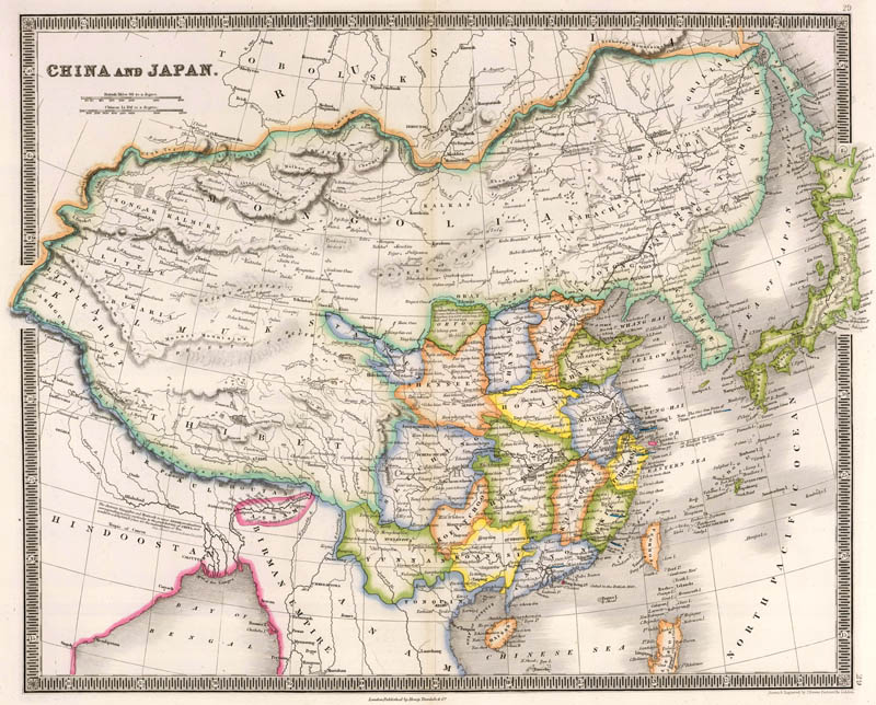 China (Mongolië) en Japan 1844 Dower