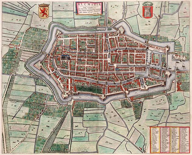 Alkmaar 1649 Blaeu