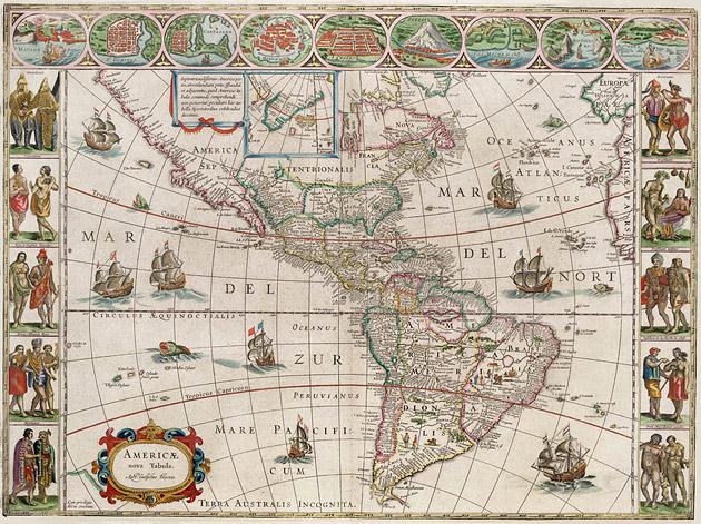 America 1649 Blaeu