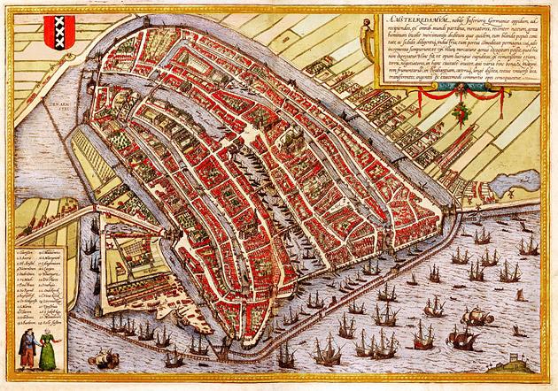 Amsterdam 1580 Braun en Hogenberg