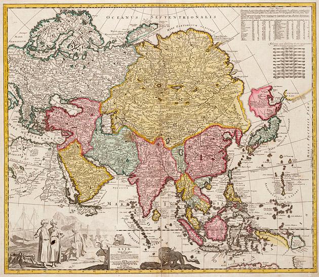 Azië 1735 Visscher / Ottens