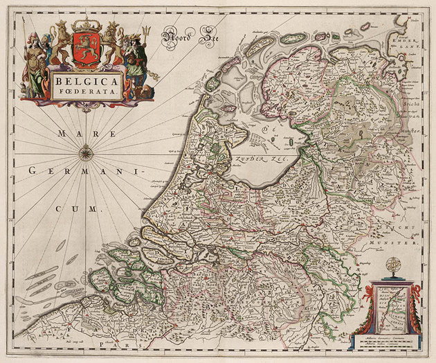 Belgica Foederata 1664 Blaeu