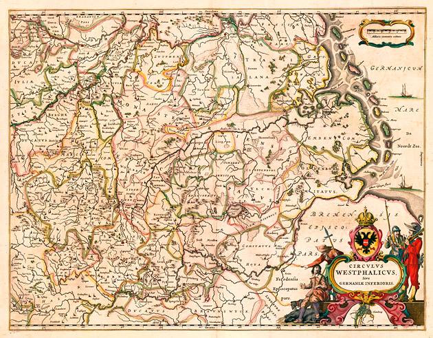 Circulus Westphalicus 1649 Blaeu