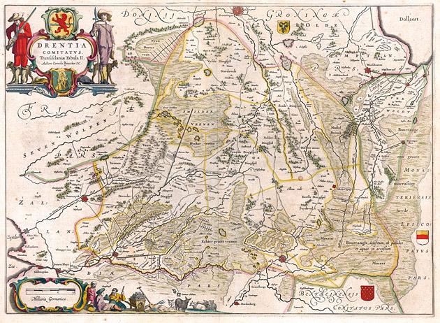 Drentia 1645 Willem Blaeu