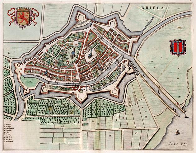Brielle 1649 Blaeu