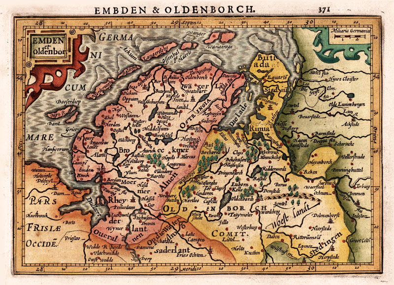 Emden & Oldenburg 1630 Mercator