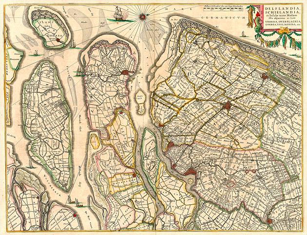 Delflandia 1649 Blaeu