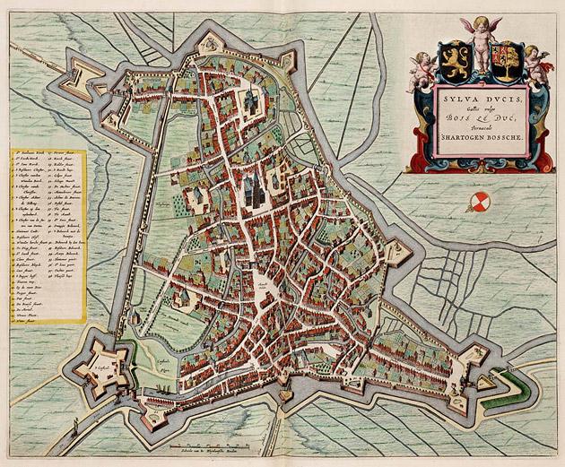 Den Bosch Oude Landkaarten En Plattegronden Oudelandkaarten Nl