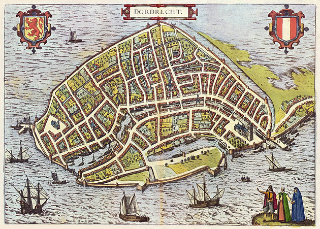 Dordrecht 1610 Braun en Hogenberg