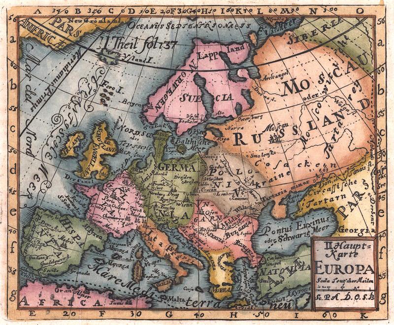 Europa Oude Landkaarten En Plattegronden Oudelandkaarten Nl