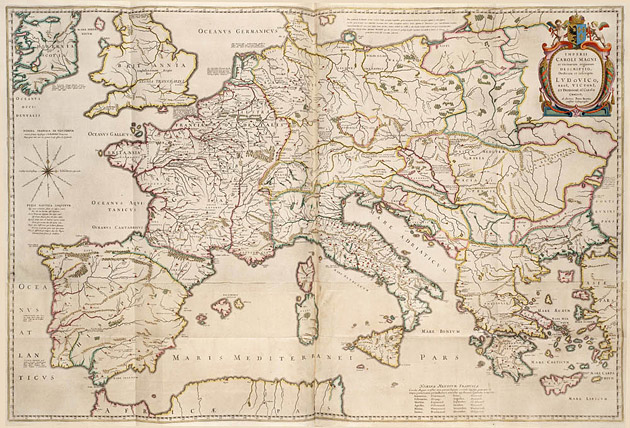 Europa Karel de Grote 1662 Bertius
