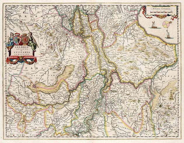 Geldria Zutfania 1664 Blaeu