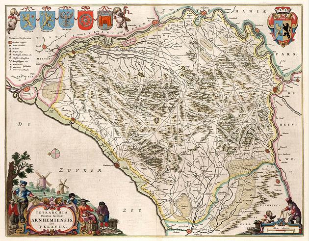 Gelria Arnhem Veluwe 1664 Blaeu