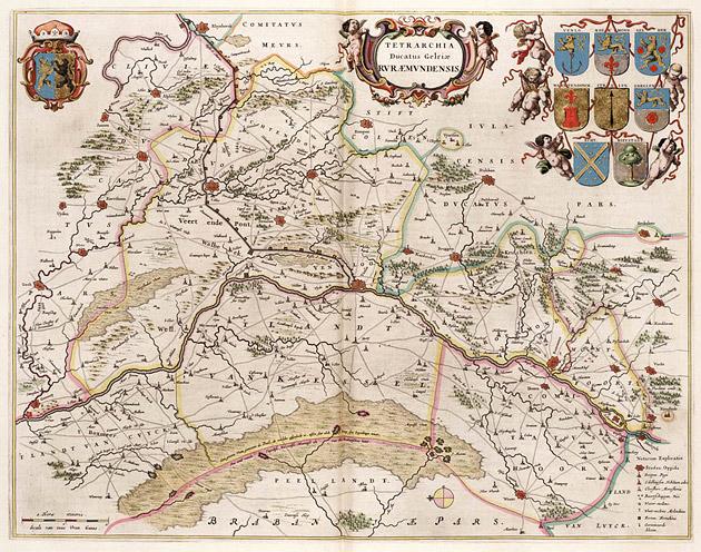 Gelria Roermond-Venlo 1664 Blaeu
