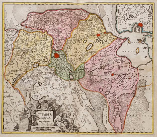 Groningae Omlandiae 1735 De Witte / Ottens