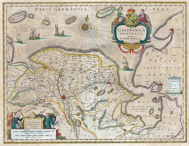 Groningen Provincie 1645 Blaeu