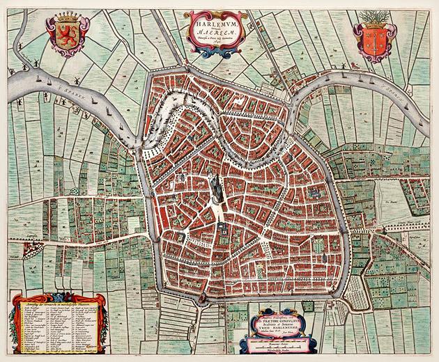 Haarlem 1649 Blaeu