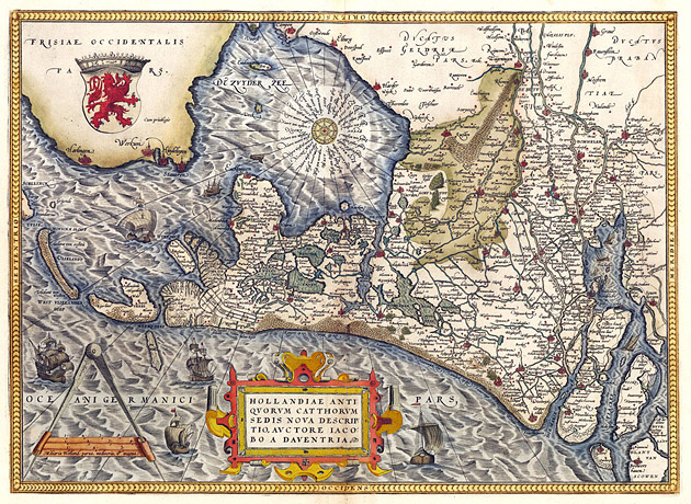 Holland 1570 Ortelius