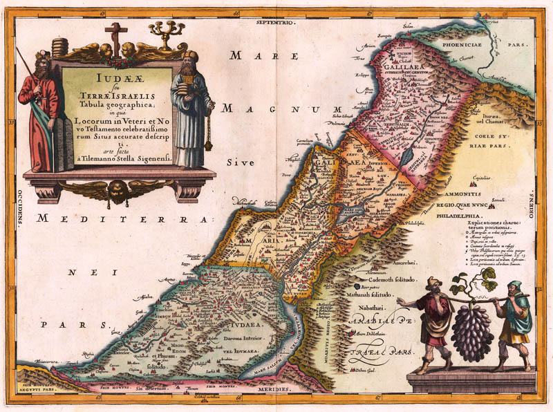 Heilig land Israel 1649 Janssonius