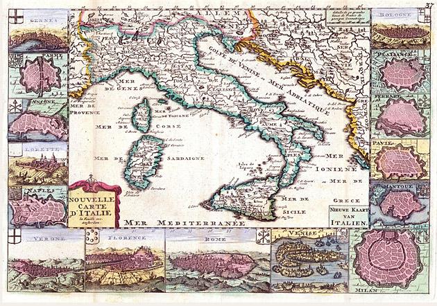 Italië 1706 De la Feuille