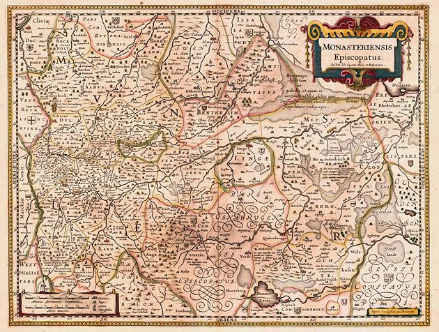Monasteriensis Episcopatus Osnabrück 1649 Blaeu