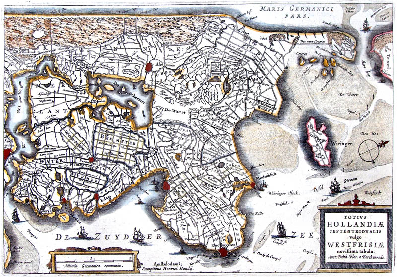 Noord Holland 1632 Westfrisia Boxhorn