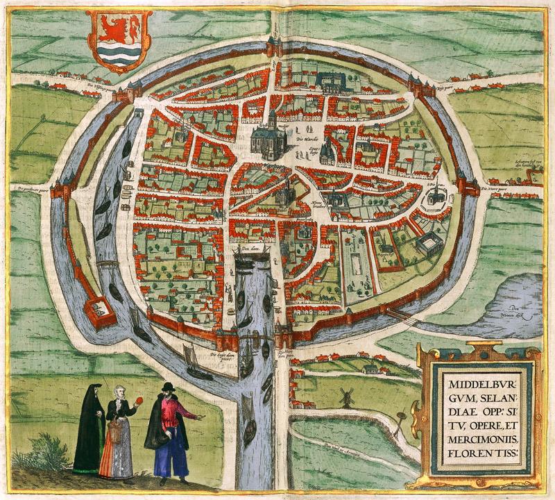 middelburg holland 1572 braun en hogenberg netherlands tourism