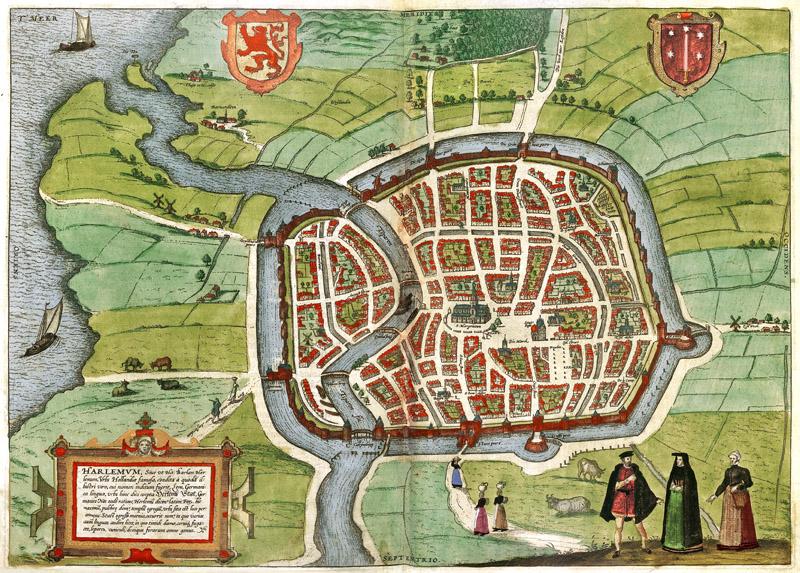 Haarlem Oude Landkaarten En Plattegronden Oudelandkaarten Nl