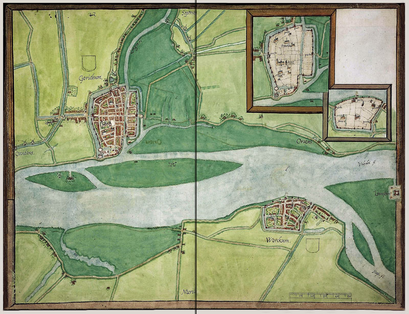 Gorkum - Woudrichem 1545 Jacob van Deventer