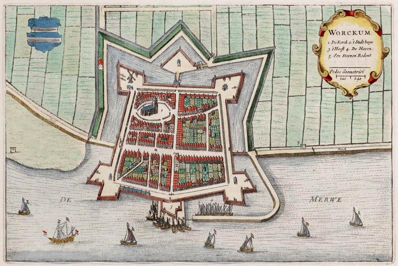 Woudrichem (Workum) 1649 Blaeu
