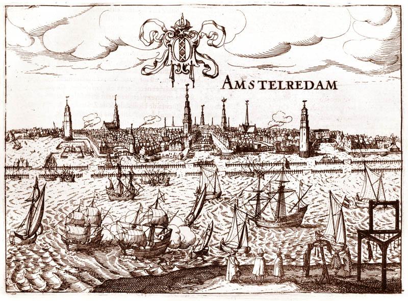 Gezicht op Amsterdam 1613 Janssonius