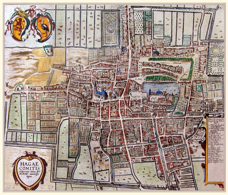 Den Haag 1595 Braun en Hogenberg