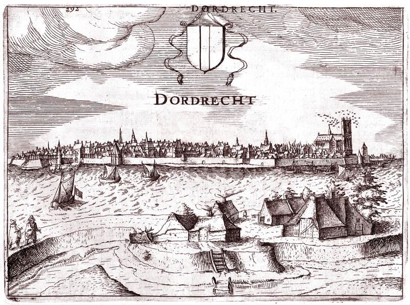 Gezicht op Dordrecht 1613 Guiccardini
