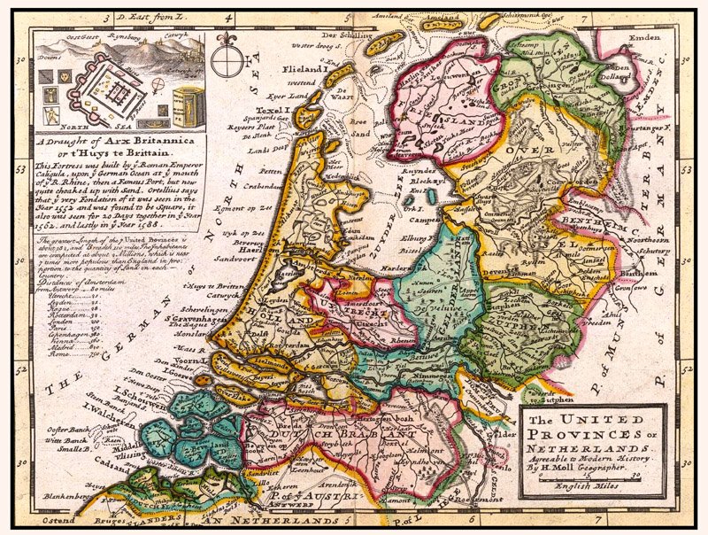 Nederland United Provinces 1732 Hermann Moll
