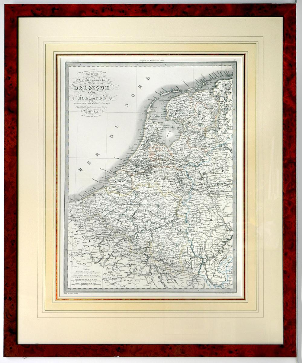 Carte des Royaumes de Belgique et de Hollande 1842, Lapie