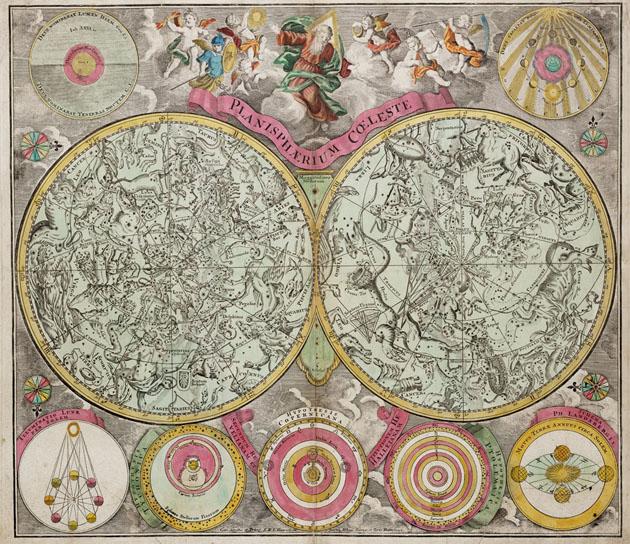 Planisphere Coeleste  Sterrenbeelden 1735 Ottens