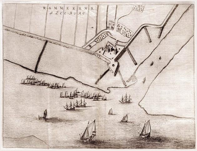 Fort  Rammekens 1649 Blaeu