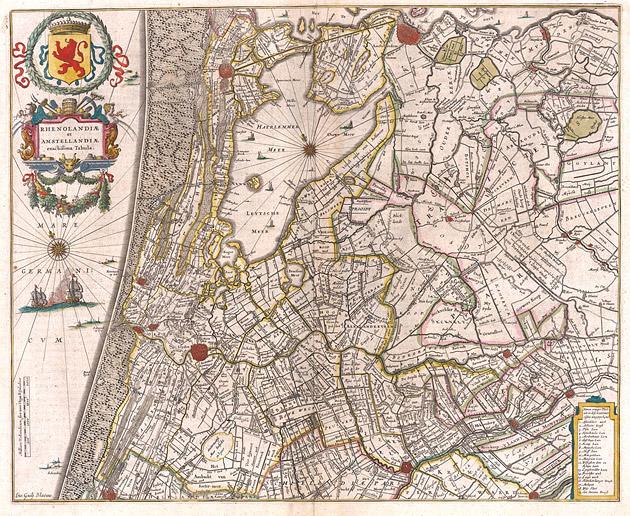 Rhenolandiae Amstellandiae 1645 Willem Blaeu