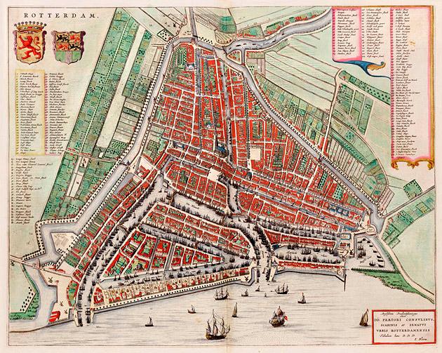 Rotterdam 1649 Blaeu
