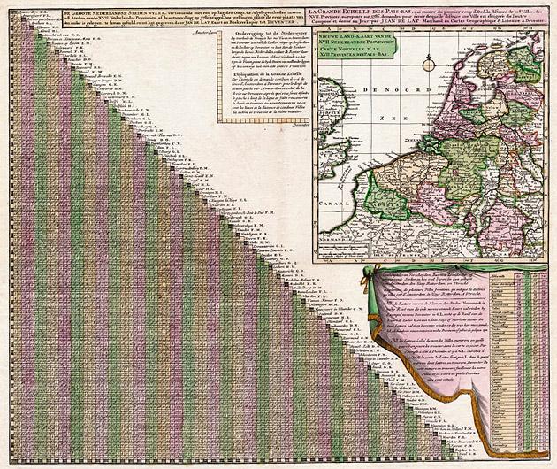 Groote Nederlandse Steedenwijzer 1707 Jan de Lat