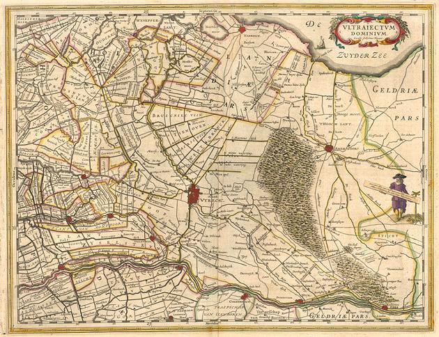 Utrecht Provincie 1645 Willem Blaeu