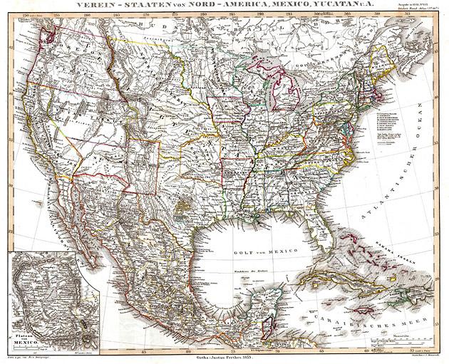 Ver.Staten van Noord Amerika + Mexico 1858 von Stuelpnagel