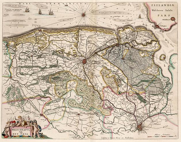 Vlaanderen Brugse Vrije 1664 Blaeu